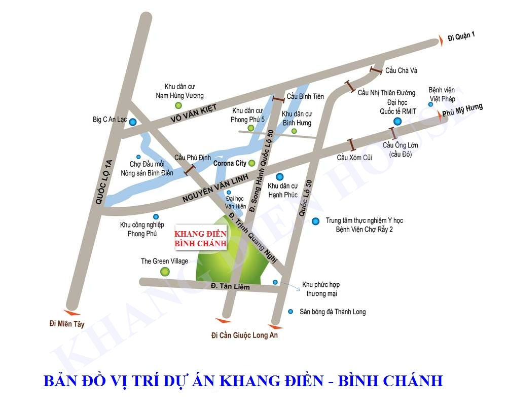 Vị trí Tổng Khu Khang ĐIền Bình Chánh