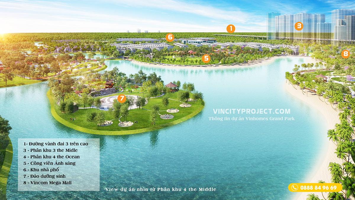 Phối cảnh công viên 36ha & đảo dưỡng sinh Vinhomes Grand Park