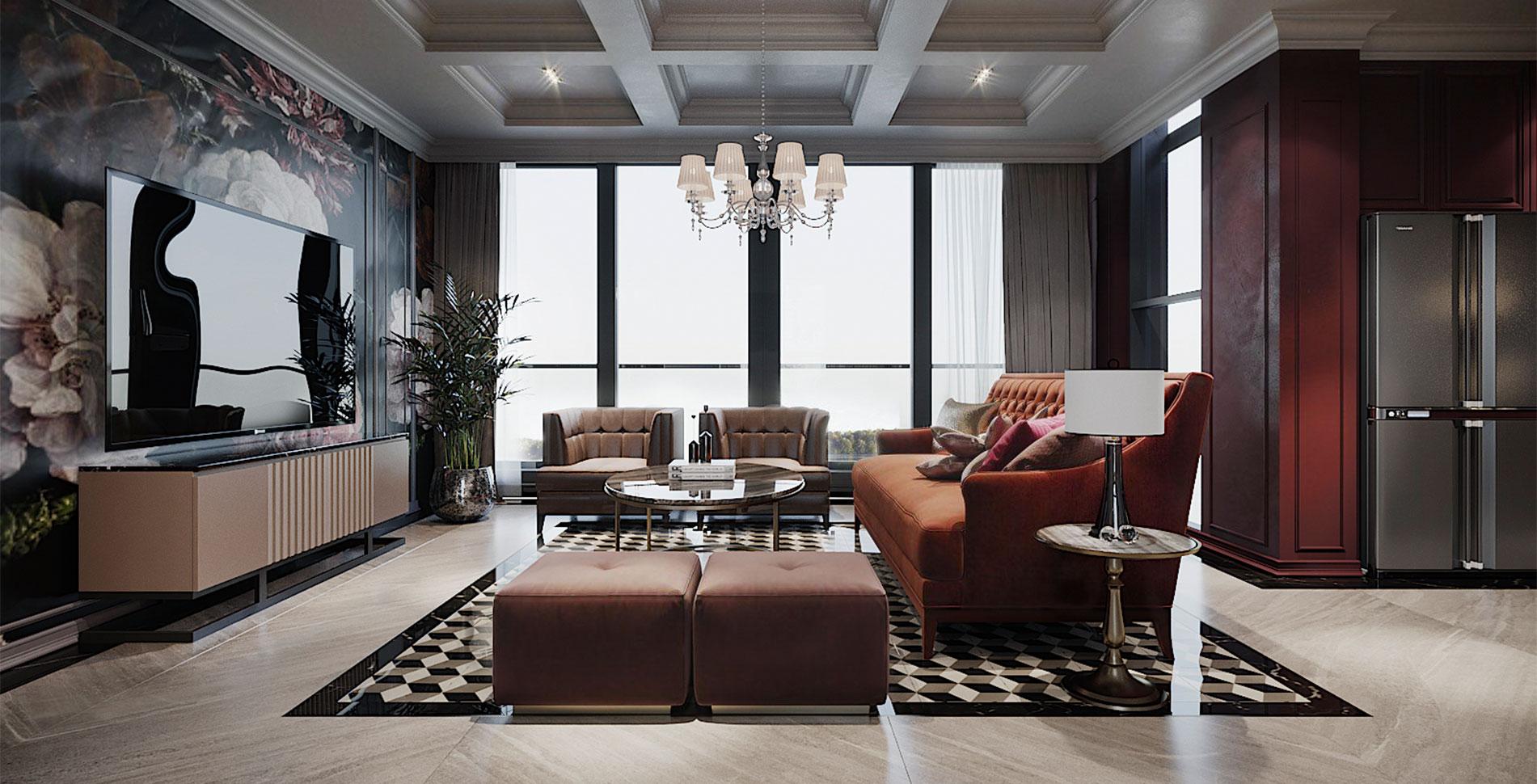 Thiết kế căn hộ Panomax River Villa
