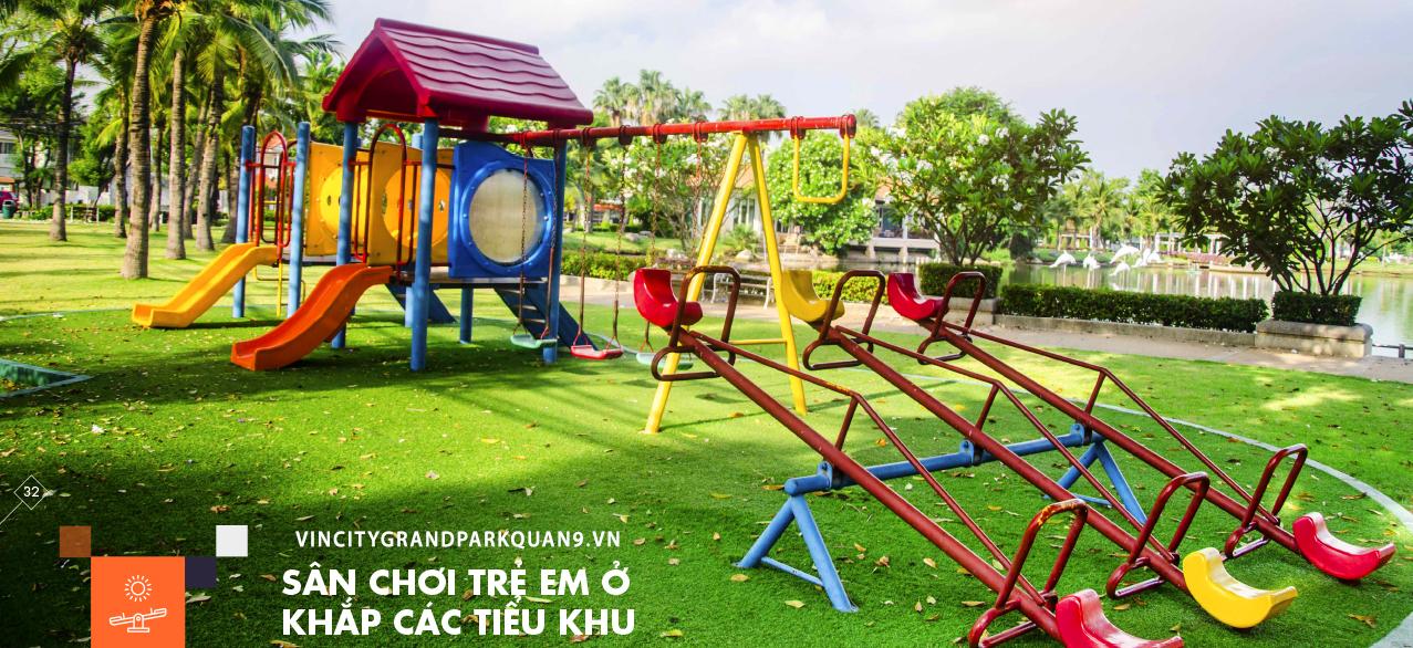 Vinhomes Grand Park Quận 9 -Sân chơi trẻ em khắp các tiểu khu