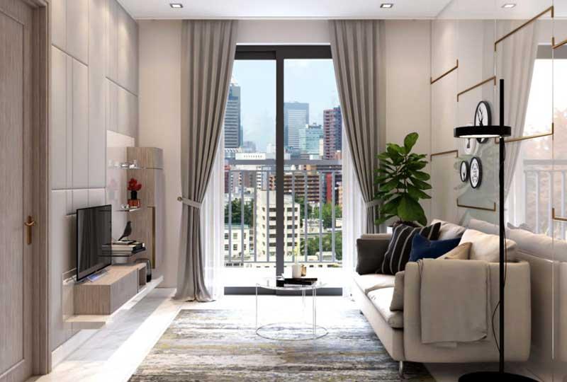 Phòng khách căn hộ chung cư Metro Quận 9 sang trọng