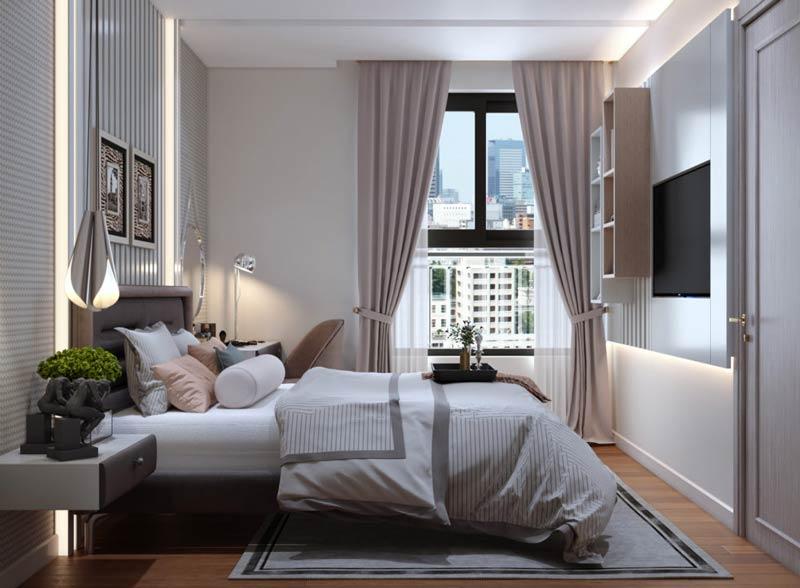 Phòng ngủ căn hộ Matro Star rất ấm cúng