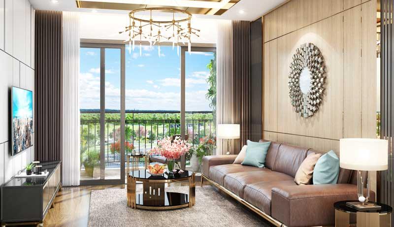 Phòng khách căn hộ Eco Green Sài Gòn