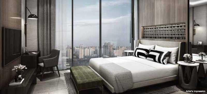 phòng ngủ căn hộ empire city