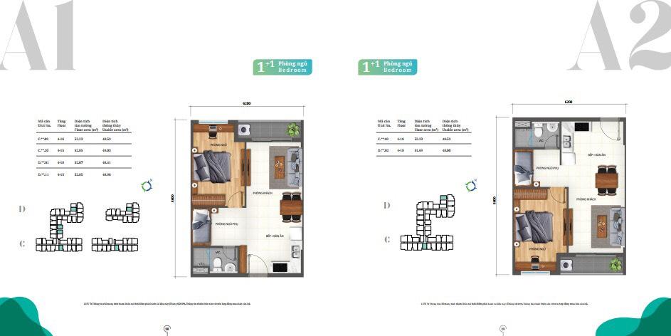 Thiết kế căn 1pn Lovera Vista
