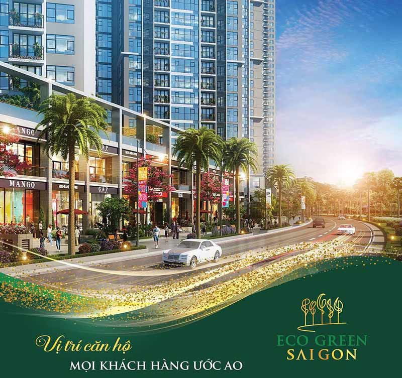 Eco Green Saigon sở hữu vị trí vàng