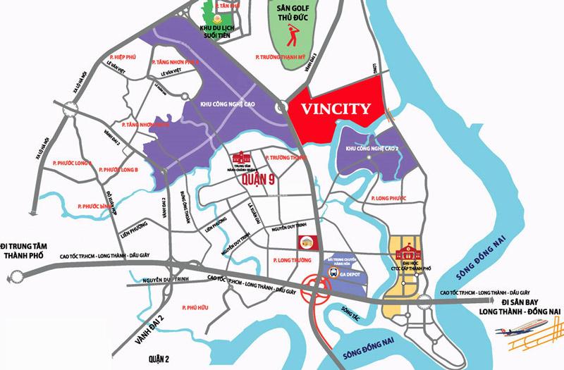 vị trí shophouse vincity quận 9