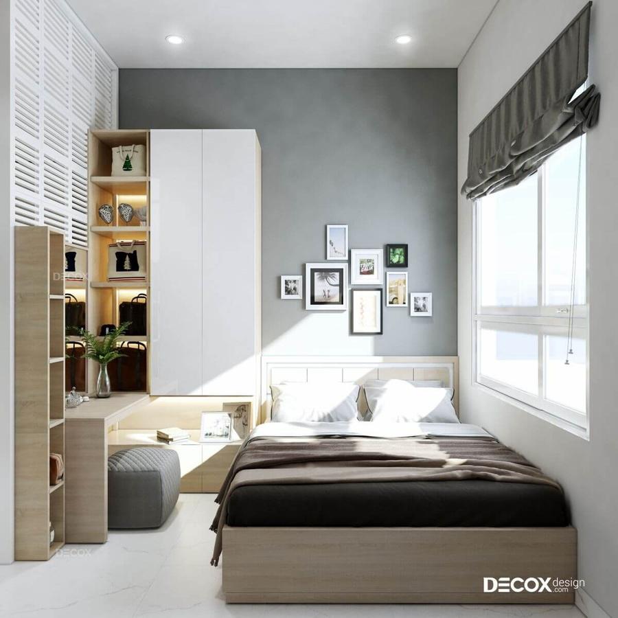 Thiết kế nội thất thông minh: Dùngtủ gỗ đa năng 2 trong 1