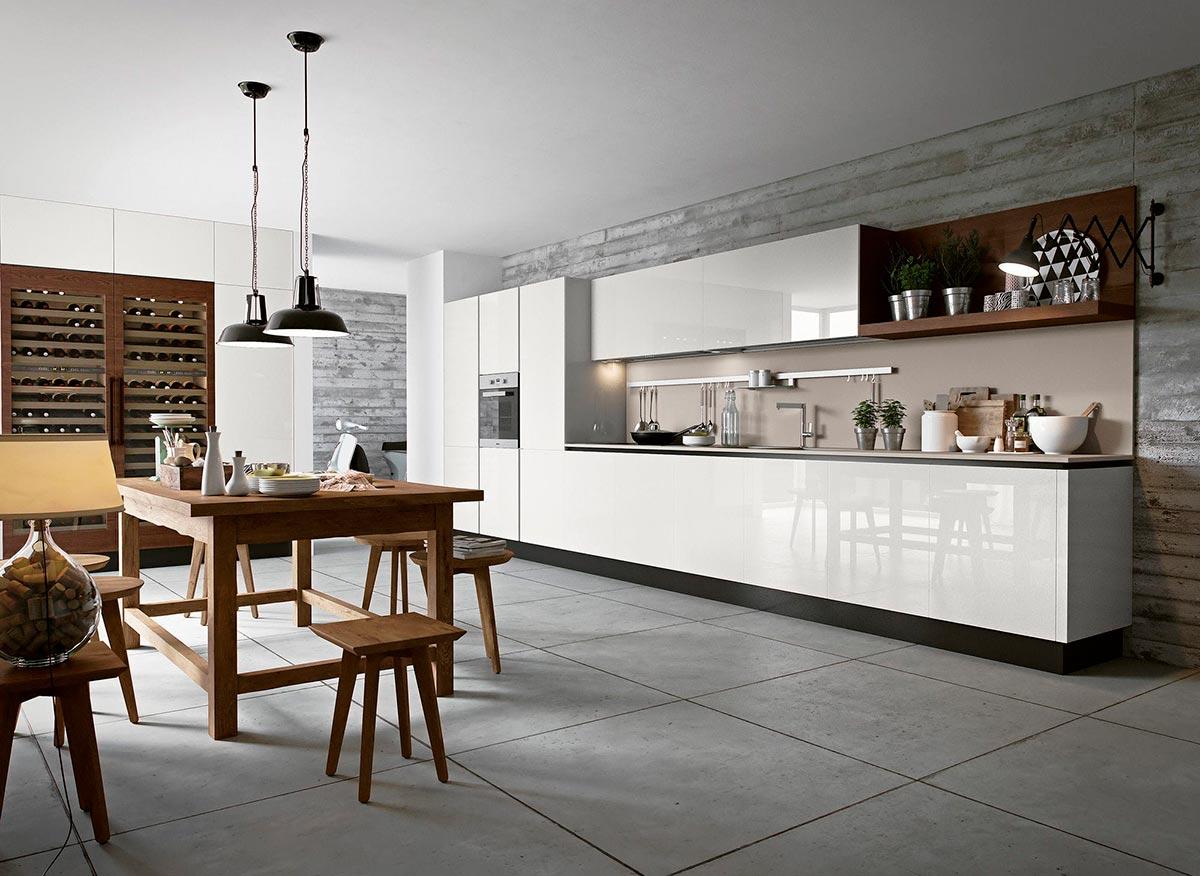Sử dụng các quy trìnhtủ bếp đơn và dài trong thiết kế