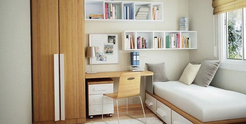 Trang trí phòng ngủ đẹp và tiện dụng vớihệ thốngkệ nổi trên tường