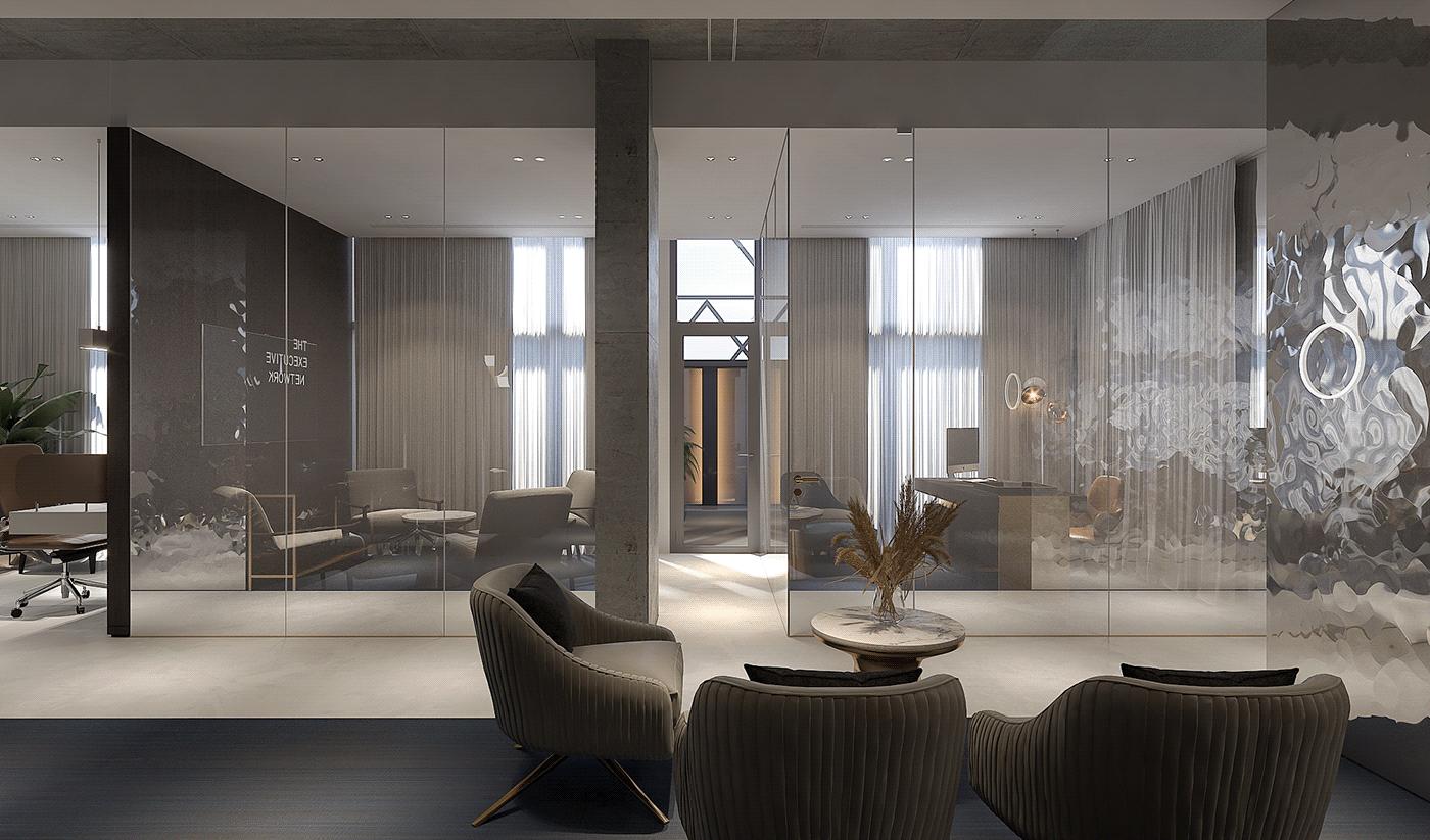 Phong cáchthiết kế nội thất văn phòng công sở sang trọng và hiện đại