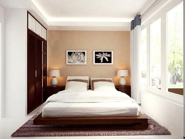 Thiết kế ánh sáng đèn kết hợp ánh sáng tự nhiênhợp lýcho phòng ngủ