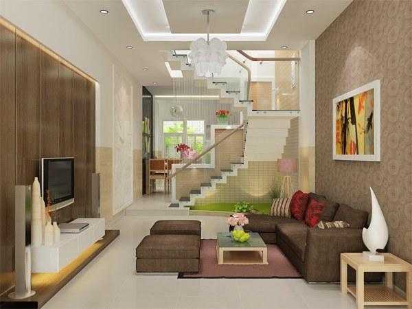 Trang trí nội thất phòng khách phụ thuộc chọn lựa màusắccho phòng khách