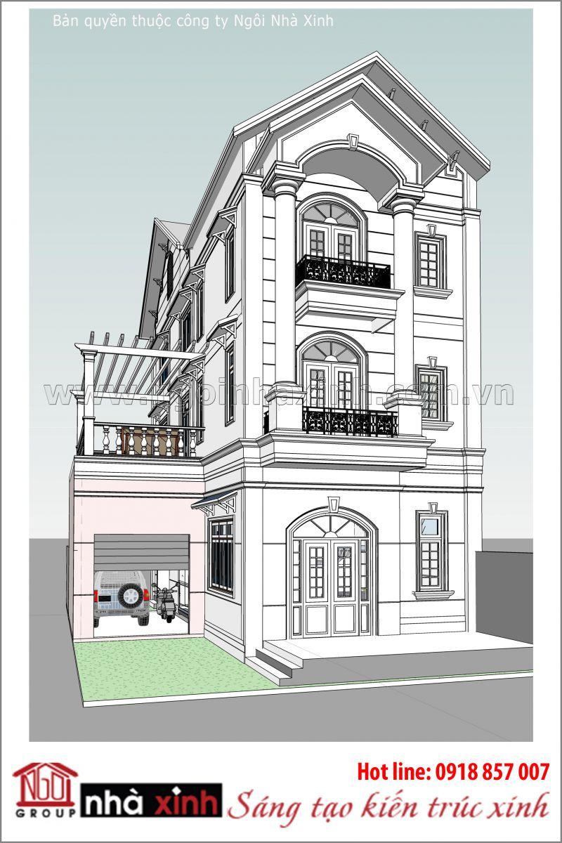 Phác thảo thiết kế kiến trúc biệt thự phố nhà Anh Kỳ - Bình Dương | Ngôi Nhà  Xinh - Sáng Tạo Kiến Trúc Xinh - Kiến Trúc Nội Thất Đẹp Nhất