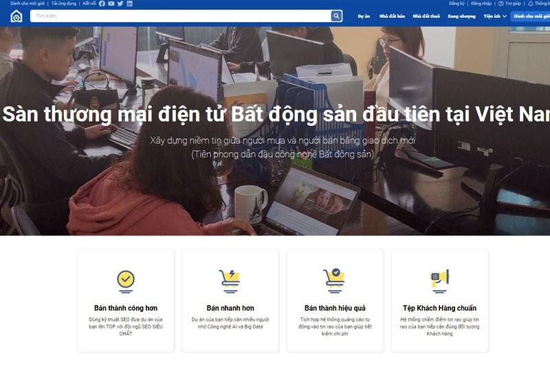 Nhadatmoi.net - sàn thương mại điện tử bất động sản mới nhưng chất lượng