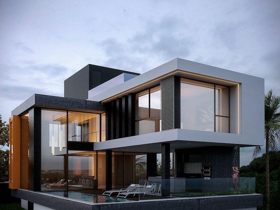 Homify casas modernas   homify   House architecture design, Modern house  exterior, Modern villa design