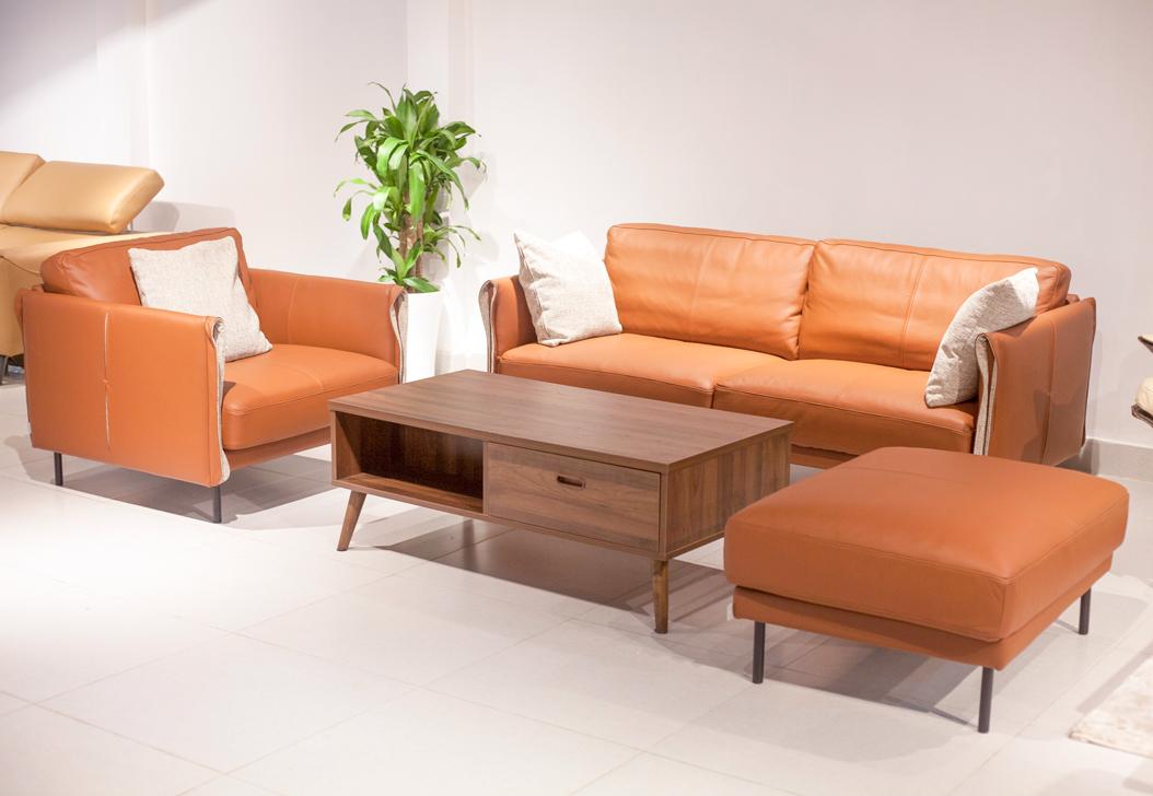 Nơi bán sofa da chuẩn xuất khẩu l Sofa da phòng khách quận 2 giá xưởng