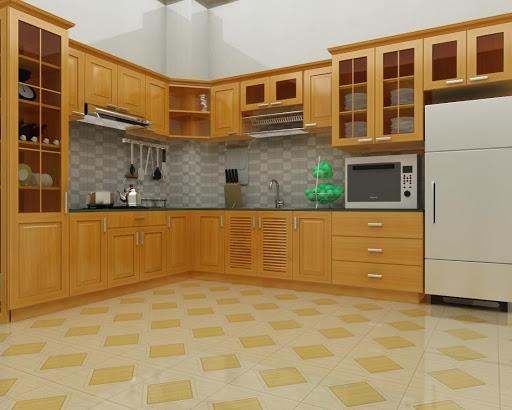 Tủ bếp đẹp TB03 - Nội Thất Mộc Đẹp