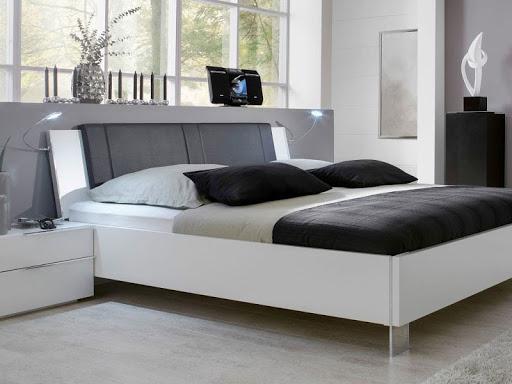 Mẫu Giường ngủ gỗ công nghiệp gỗ Acrylic đẹp