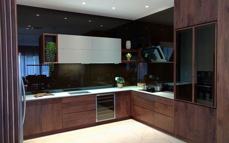 Lưu trữ tủ bếp gỗ tự nhiên - Tủ bếp nhập khẩu cao cấp, tủ bếp hợp kim, tủ  bếp Nhật Bản